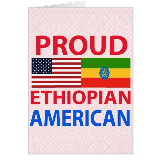 Proud Ethiopian American Card