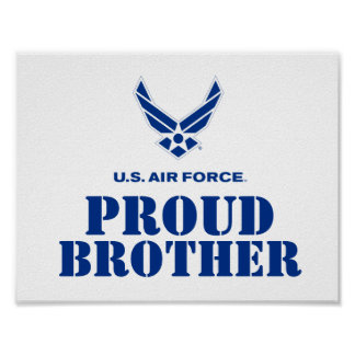 Proud Family – Small Air Force Logo & Name Poster