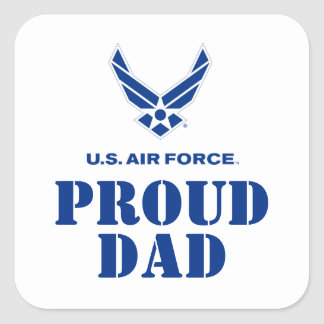 Proud Family – Small Air Force Logo & Name Square Sticker