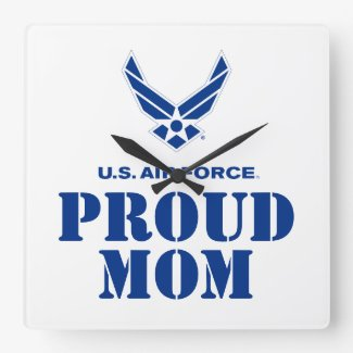 Proud Family – Small Air Force Logo & Name Square Wall Clock