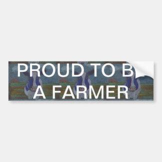 Proud Farmer Dairy Cow Car Bumper Sticker