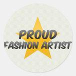 Proud Fashion Artist Classic Round Sticker