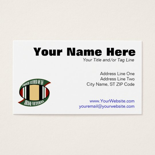 Proud Father Business Card