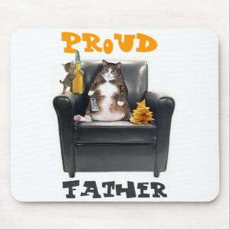 """""""Proud Father"""" Cats Mousepad"""