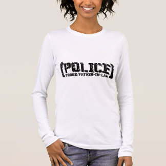 Proud Father-in-law - POLICE Tattered Long Sleeve T-Shirt