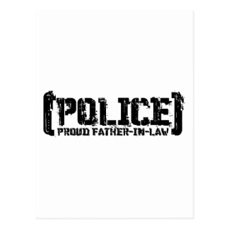 Proud Father-in-law - POLICE Tattered Postcard