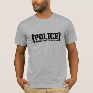 Proud Father-in-law - POLICE Tattered T-Shirt