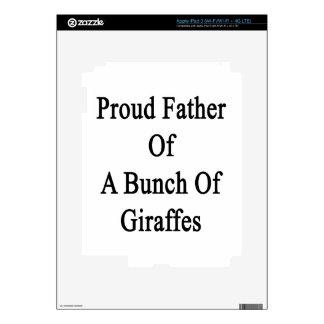 Proud Father Of A Bunch Of Giraffes iPad 3 Skin
