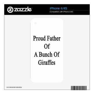 Proud Father Of A Bunch Of Giraffes Skins For iPhone 4