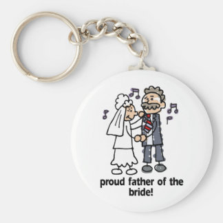 Proud Father of the bride Basic Round Button Keychain