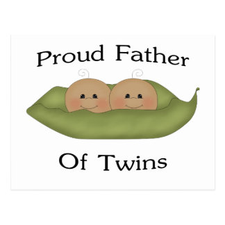 Proud Father Of Twins Postcard