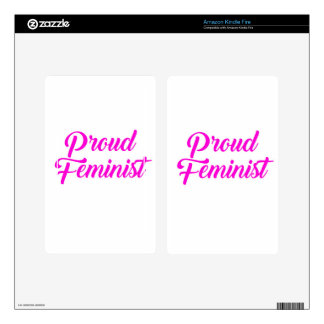 Proud Feminist Kindle Fire Decals