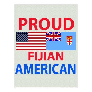 Proud Fijian American Postcard