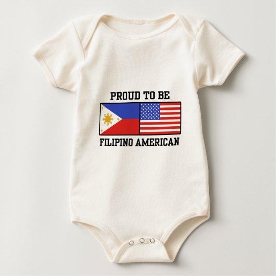 Proud Filipino American Baby Bodysuit