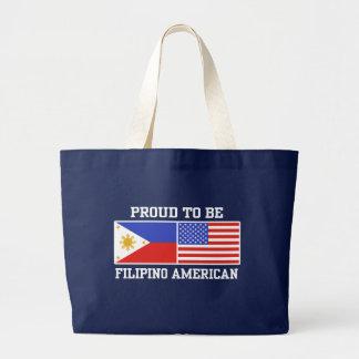 Proud Filipino American Large Tote Bag