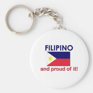 Proud Filipino Basic Round Button Keychain