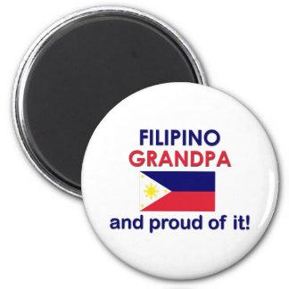 Proud Filipino Grandpa 2 Inch Round Magnet