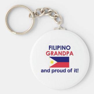 Proud Filipino Grandpa Basic Round Button Keychain