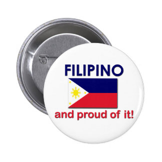 Proud Filipino Pinback Button