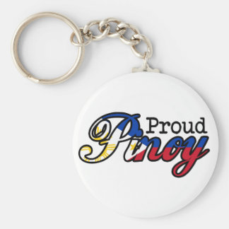Proud Filipino Pinoy Basic Round Button Keychain