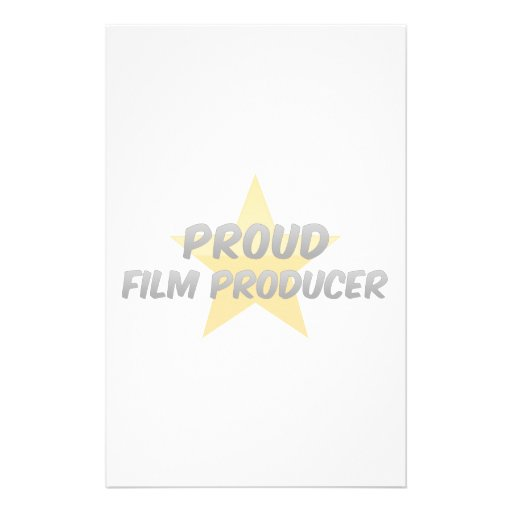 Proud Film Producer Stationery