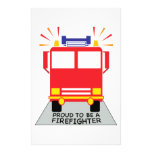 Proud Firefight Stationery Paper