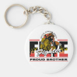 Proud Firefighter Brother Keychain
