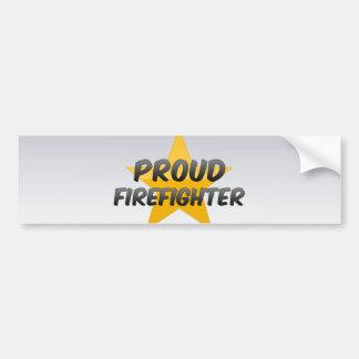 Proud Firefighter Car Bumper Sticker