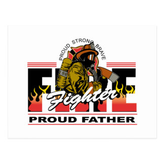 Proud Firefighter Father Postcard