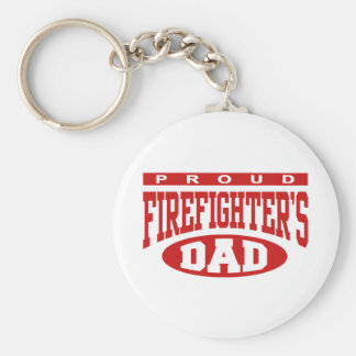 Proud Firefighter's Dad Keychain
