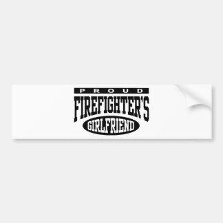 Proud Firefighter's Girlfriend Bumper Sticker