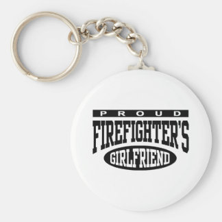 Proud Firefighter's Girlfriend Keychain