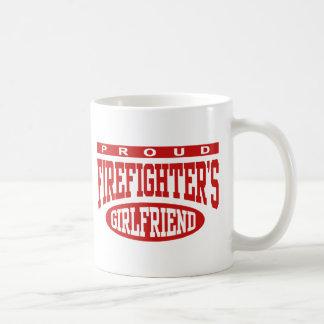 Proud Firefighter's Girlfriend Classic White Coffee Mug