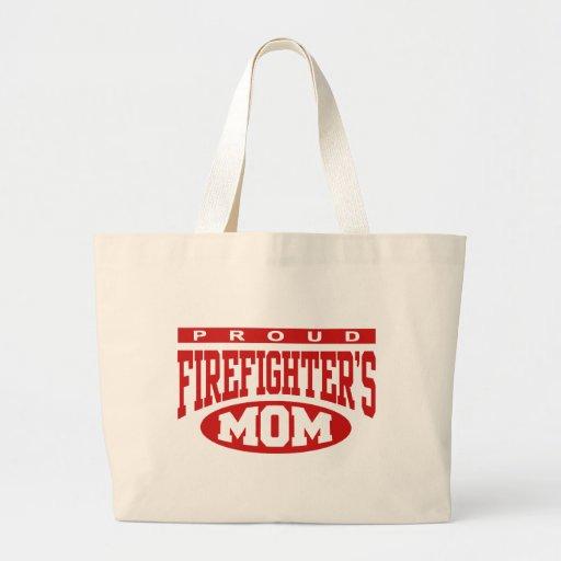 Proud Firefighter's Mom Jumbo Tote Bag