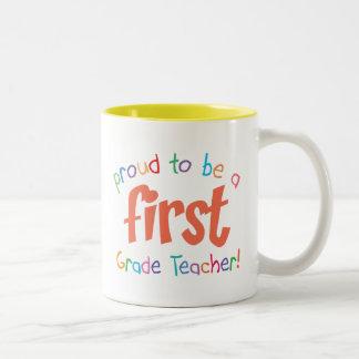 Proud First Grade Teacher Mug