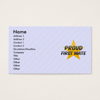 Proud First Mate Business Card