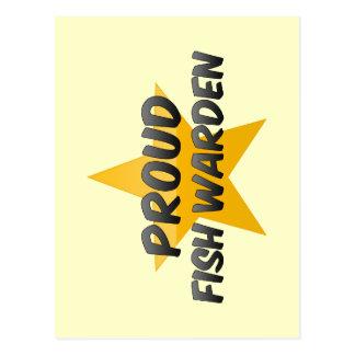 Proud Fish Warden Postcard