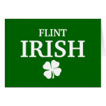 Proud FLINT IRISH! St Patrick's Day Card