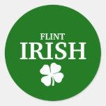Proud FLINT IRISH! St Patrick's Day Round Sticker