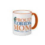Proud Florida Mom Ringer Coffee Mug