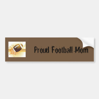 Proud Football Mom Bumper Sticker