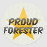 Proud Forester Round Stickers