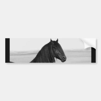 Proud Friesian black stallion horse Car Bumper Sticker