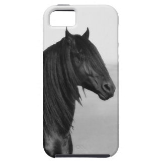 Proud Friesian black stallion horse iPhone 5 Covers