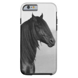 Proud Friesian black stallion horse Tough iPhone 6 Case
