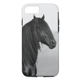 Proud Friesian black stallion horse iPhone 7 Case