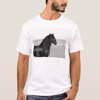 Proud Friesian black stallion horse T-Shirt