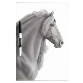 Proud Friesian Horse Dry Erase Board
