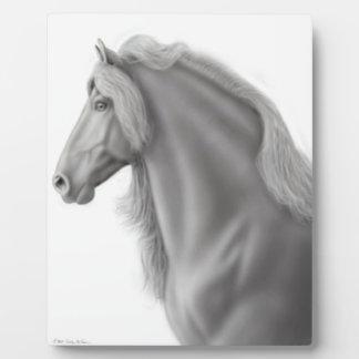 Proud Friesian Horse Plaque