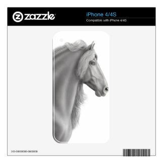 Proud Friesian Horse Zazzle Skin iPhone 4 Skin